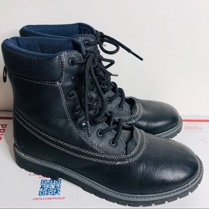 Nautica Black Lace up winter hiking boots 6